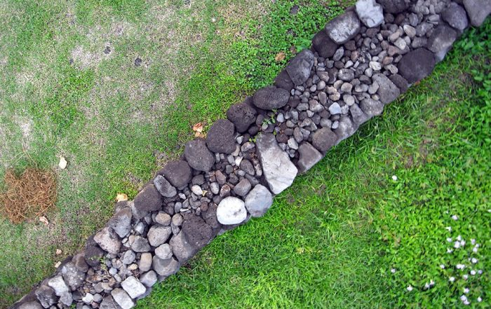 Mur d'enceinte du Marae Maraetaata à Paea. Photo Pierre Lesage