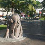 Sculpture de Umupaura, la pêche miraculeuse - Papeete