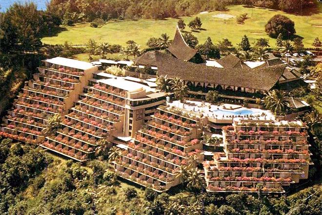 Hotel Taharaa, à Arue, en 1970