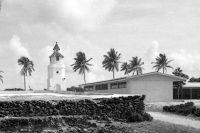 Le phare de Makemo en 1967. Coll. Tahiti Heritage