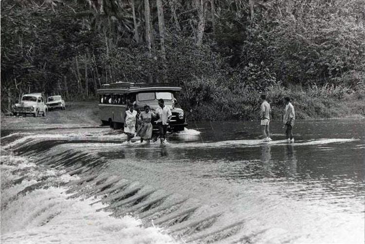Radier de Tautira, Tahiti en 1950