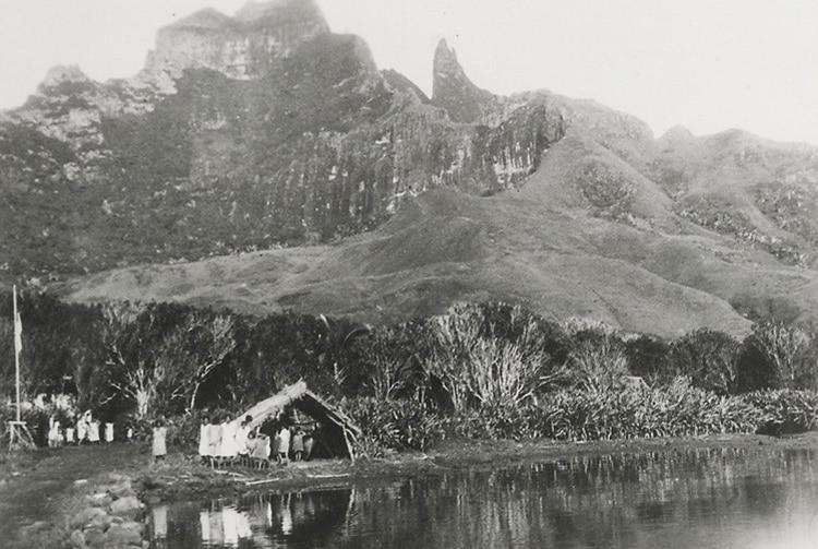 Village d'Anahei de l'île de Rapa en 1935. Australes