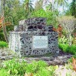 Monument funéraire de Noël Ilari à Tubuai