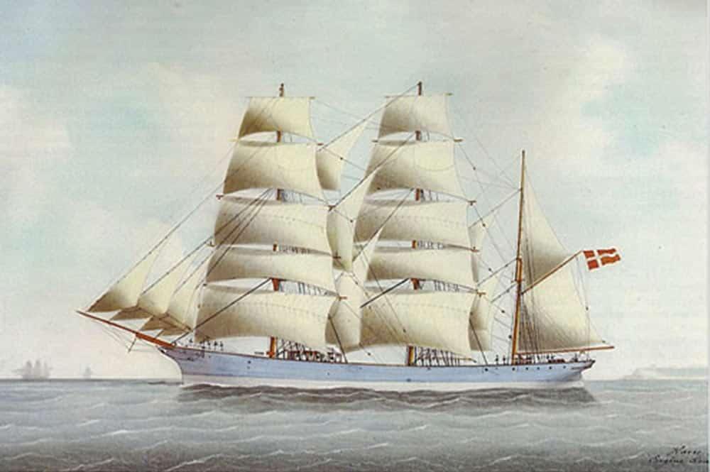 Le navire Nordby. Illustration Eugène Grandin 1890