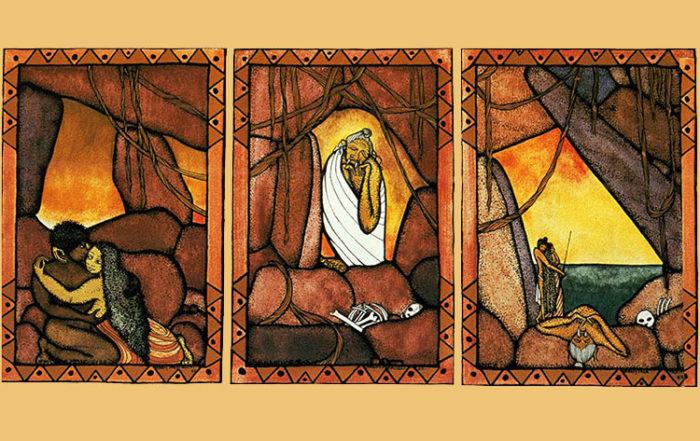 Légende de Tafa'i, Nona et Monoihere. Illustration Bobby