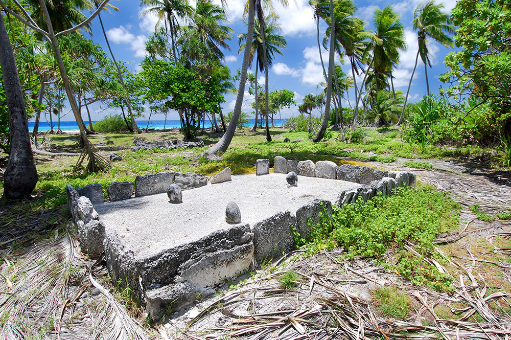 Marae Tainoka à Fakarava © Tahiti Heritage
